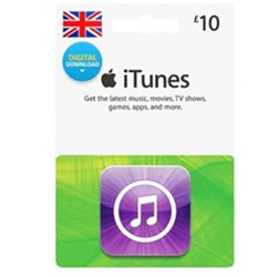 Apple iTunes £10 Gift Card - UK (iTunes UK Gift Cards)
