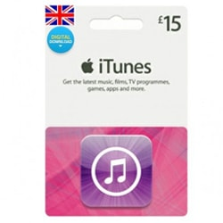 Apple iTunes £15 Gift Card - UK (iTunes UK Gift Cards)