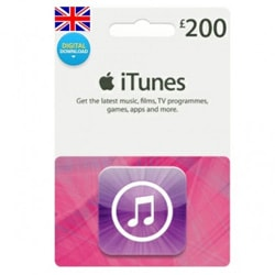Apple iTunes £200 Gift Card - UK (iTunes UK Gift Cards)