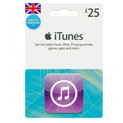 Apple iTunes £25 Gift Card - UK (iTunes UK Gift Cards)