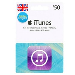 Apple iTunes £50 Gift Card - UK (iTunes UK Gift Cards)