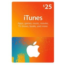 Apple iTunes $25 Gift Card - USA (iTunes Gift Cards)