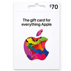Apple iTunes $70 Gift Card - USA (iTunes Gift Cards)