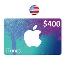 Apple iTunes $400 Gift Card - USA (iTunes Gift Cards)