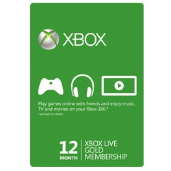 Xbox Live Card 12 Month - USA (Xbox Cards)