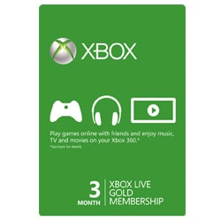 Xbox Live Card 3 Month - USA (Xbox Cards)