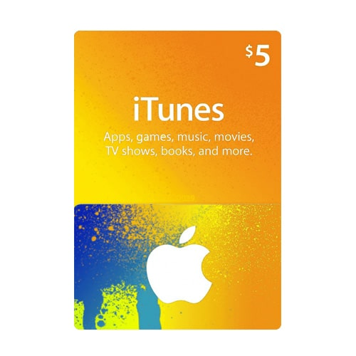 Apple iTunes $5 Gift Card - USA