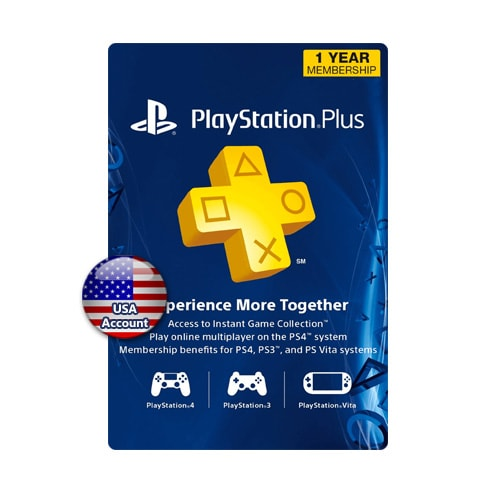 PSN Plus Card 1 Year (US)