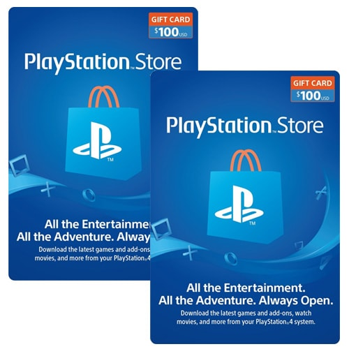 Sony PlayStation Network Card $100x2 - USA (Email Delivery